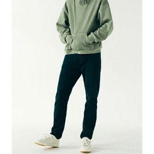 Pacsun corduroy pants green jeans 30x30 slim taper